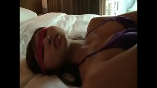 Sexy Blindfolded Asian Girl Tied Up in Her Panties
