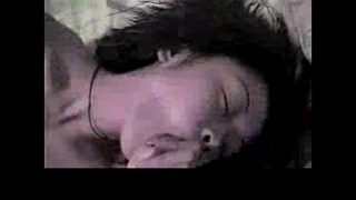 Two chinese students fucking in her room